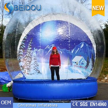 Factory Wholesale Durable Giant Photo Human Inflatable Christmas Snow Globe