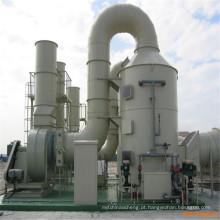 Dispositivo de tratamento de gases residuais compostos Oxidante Térmico Regenerativo (RTO)