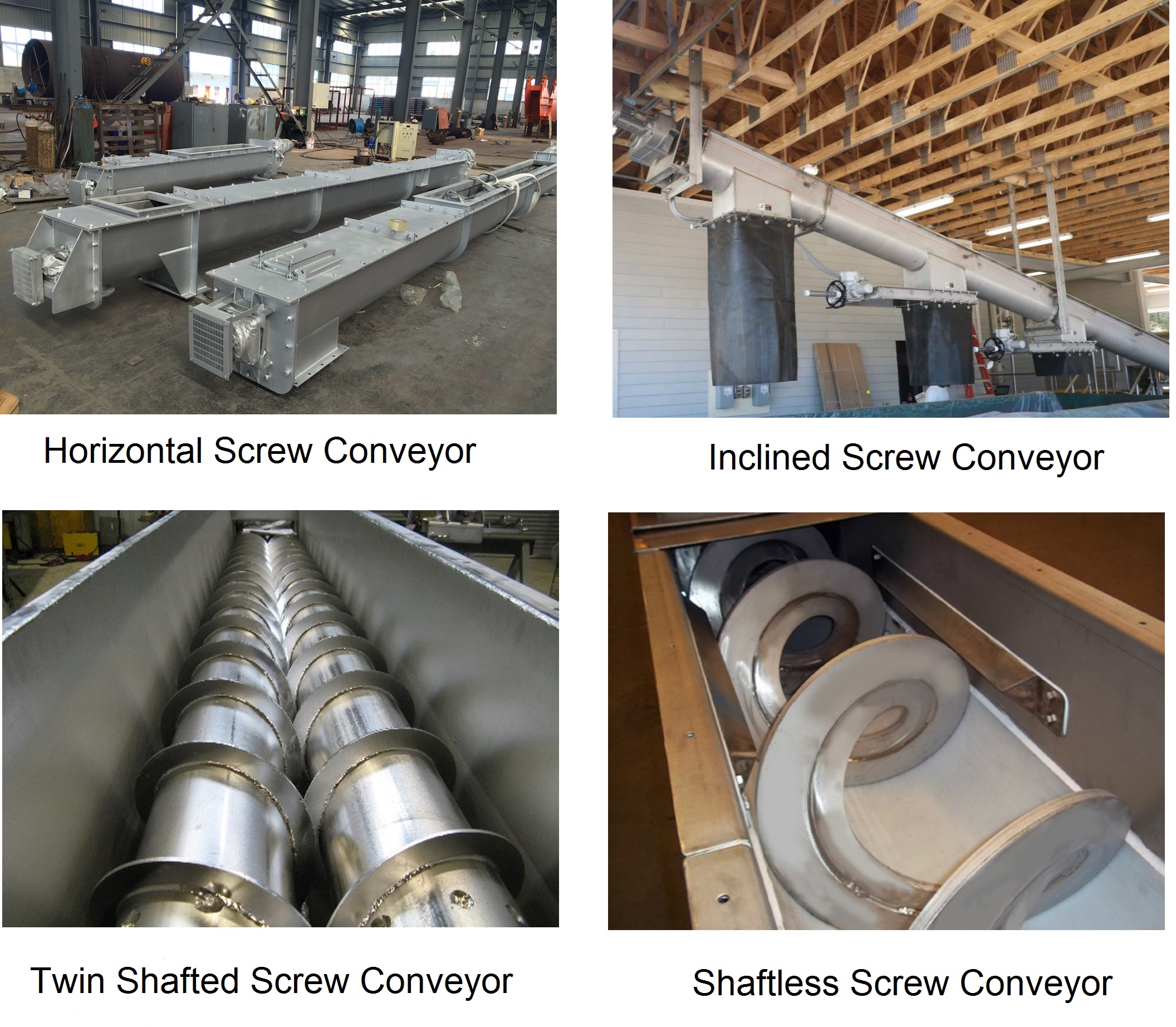 Four types of Screw Conveyors