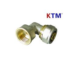 Brass Pipe Fitting - Female Elbow for plastic, Pex-Al-Pex Pipe Connector