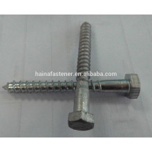 Hot dig galvanized hex head Wood Screwd, HDG self tapping wood screw, half thread wood screw