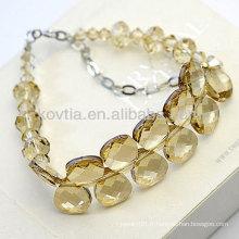 Bracelets en cristal australien luxueux en cristal jaune naturel