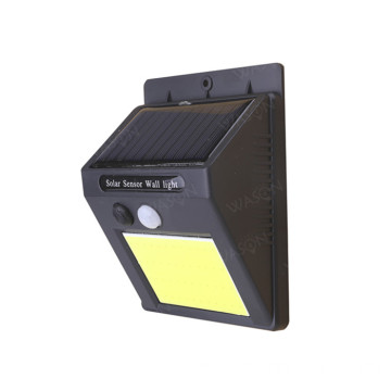 COB LED Solar PIR Sensor de movimiento Luz de pared