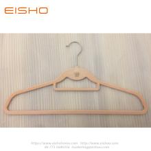 Dusty Rose Velvet Hanger With Hook And Bar