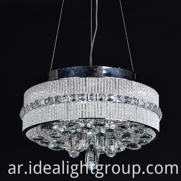 hanging chandelier with crystal ball