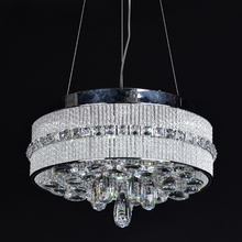 round led hanging chandelier with crystal ball light