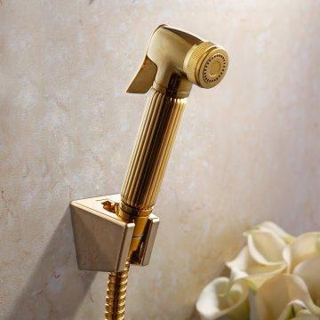 Modern Style Wall Mounted Bathroom Brass Shattaf Portable Body Spray Set