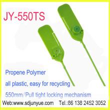 Selo de alta segurança (JY550-TS), puxe apertado pesados selos com painel de gravação