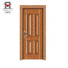 Novo modelo de marca aceito Oem aço madeira porta Design