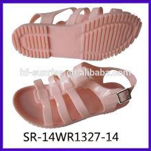 SR-14WR1327-13 ladies flat sandals women flat jelly sandals plastic sandals wholesale jelly sandals