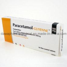 Medicamentos analgésicos Ibuprofeno y tableta de paracetamol para la atención de la salud