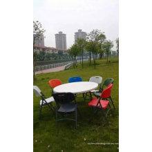 Mesa de banquete plegable HDPE y silla