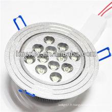 Shenzhen a conduit l'éclairage fabricant 100-240v 220v 12w downlight encastré avec CE et RoHS