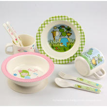 (BC-MK1004) Fashinable Design Reusable Melamine 4PCS Kids Cute Dinner Set