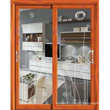 Glass sliding door modern aluminium door with glass