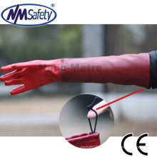 NMSAFETY long cuff pvc waterproof fishing work gloves