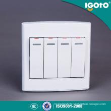 Igoto British Standard D3041 4 Gang 1 Way 86 Series Electrical Wall Switch