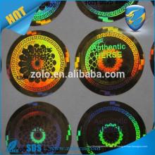 Imagem diferente de forma / logotipo / texto em selos de holograma