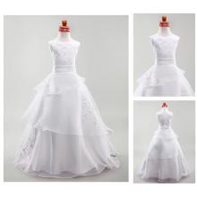 2016 neues Art-Blumen-Mädchen-Kleid- / Mädchen-Partei-Abnutzungs-westliches Kleid- / Geburtstags-Kleid für Baby D6