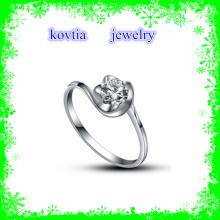 Moda grande forma de flor de brilho 925 anel de prata esterlina com zircão cúbico jóias Japão gemstones