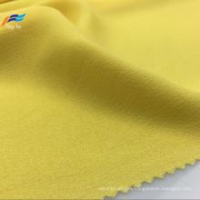 100% Polyester Yarn Dyed Yellow Ladies Dress Fabric