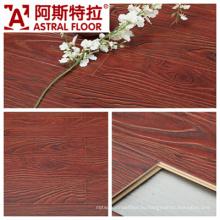 Цзянсу Чанчжоу (V-образный паз и U-образный паз) Зарегистрированный тисненый поверхностный ламинированный пол (AT002)