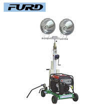 Mobile Construction Light Tower with Gasoline Generator