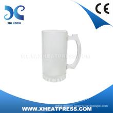 High Quality Low Price 16oz Frosted Glass Beer Mug Sublimation Glass Mug Heat Press Glass Mug