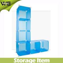 Cube bleu mignon de stockage d'affichage (FH-AL0025)
