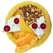 Hot-selling cross-border pet pizza vocal and food leakage training feeder mat toy