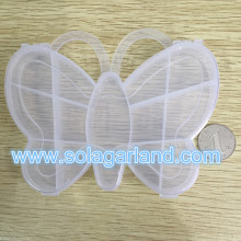 2*11*14CM Butterfly Shape Clear Plastic Box Container Jewelry Organizer Case Storage