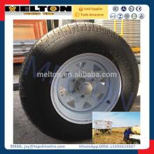 Grain silo trailer tire 235/75R15 assemble wheel together