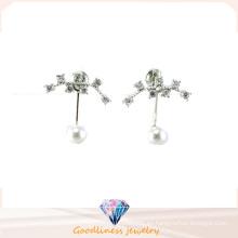 Buena calidad y joyería de moda 3A CZ 925 pendiente de plata (E6540)