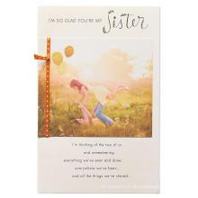 Invitation de fête d'anniversaire confortable maman et fille papier bristol