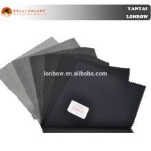 Best selling lã lycra mistura super 100 esticada sólida cor lisa tecido para homens terno