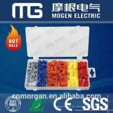 Surtido de kits de conectores de terminal de horquilla eléctrica con una combinación de terminales