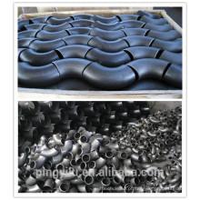 Cotovelo de encaixe de tubulação de gás de curvatura em aço carbono