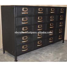 Rodas de rodízio de gabinete de gaveta industrial vintage