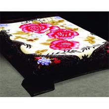 Impression florale 100% polyester et couverture en polyester à bas prix