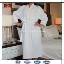 Trade Assurance Custom Waffle Fabric Luxury Hotel Cotton Bathrobe with Embroidery