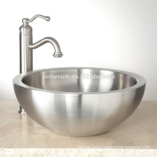 Stainless Steel Bathroom Sink with Double Wall
