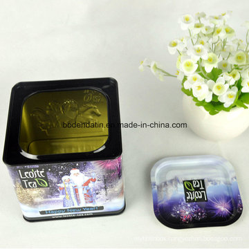Christmas Decoration Metal Tin Box/ Candy Tin Container/Chocolate Tin