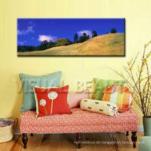 Dekorative Moutain Panorama Bild Malerei Kunst auf Leinwand mit gestreckt