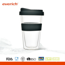 2015 Novos produtos Atacado Barato Drinking Copo de chá de vidro com tampa