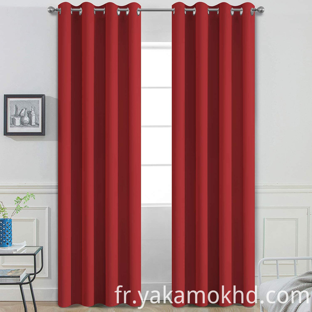 84 Red Blackout Curtains