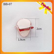 BB07 Custom métal chaussure en or accessoires boucle avec clips amovibles sac à main décoration en métal