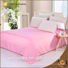 70 / 90GSM sólido color barato al por mayor plana cama sábanas