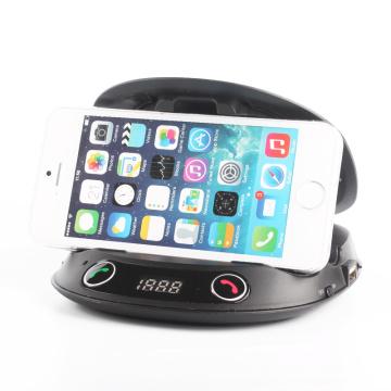 Handsfree Speakerphone Car Bluetooth FM Transmitter with Car Mount
