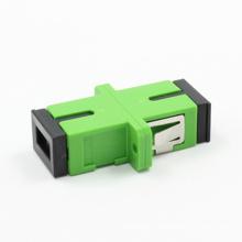 Sc / APC Siglemode Adaptador de fibra óptica con brida