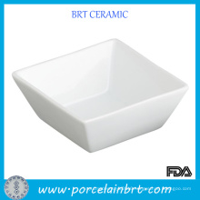 White Square Deep Soy Sauce Dish